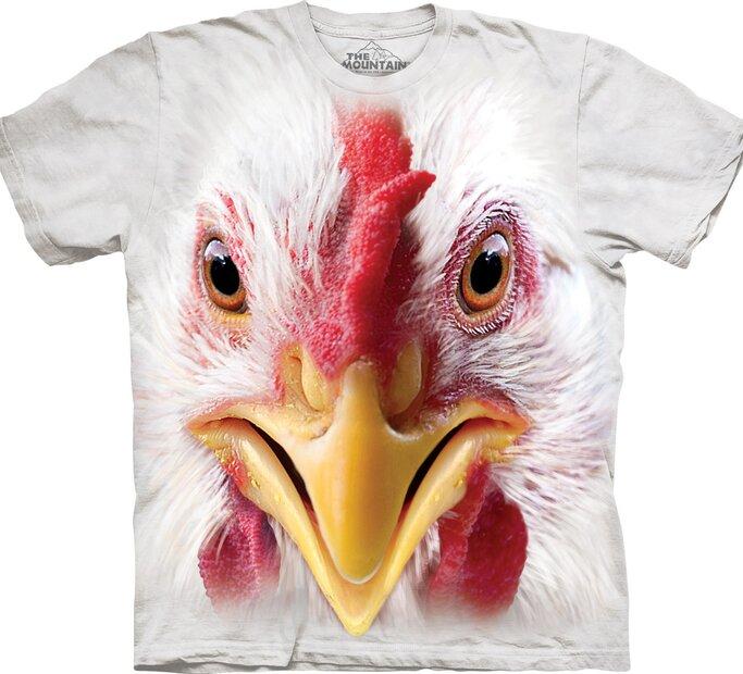T-Shirt Hühnergesicht