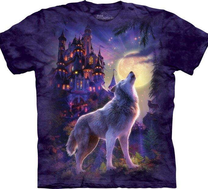 T-Shirt Wolf Burg