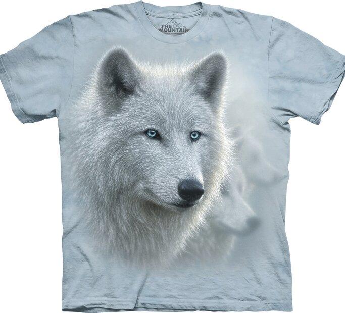 T-Shirt Wunderschöner Weißer Wolf