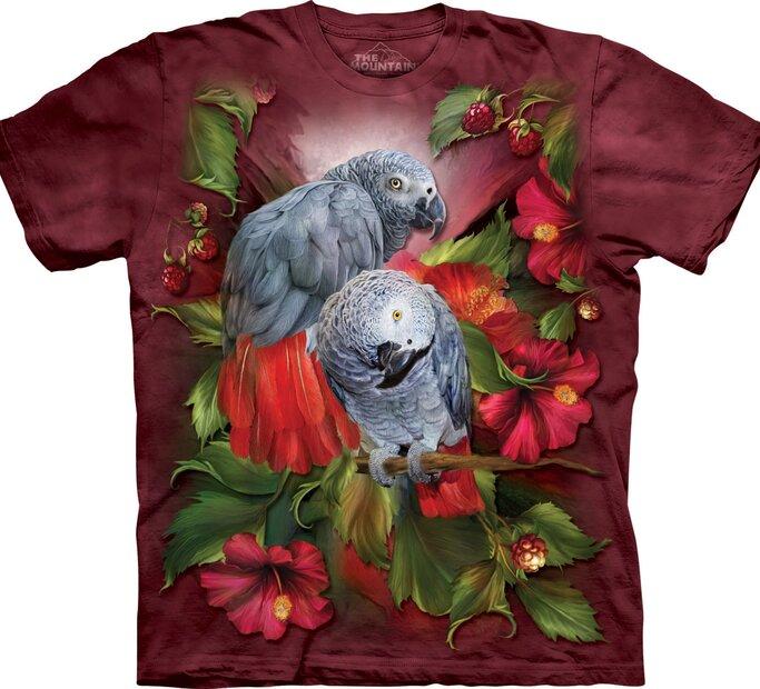 Tričko Afričtí šedí papoušci