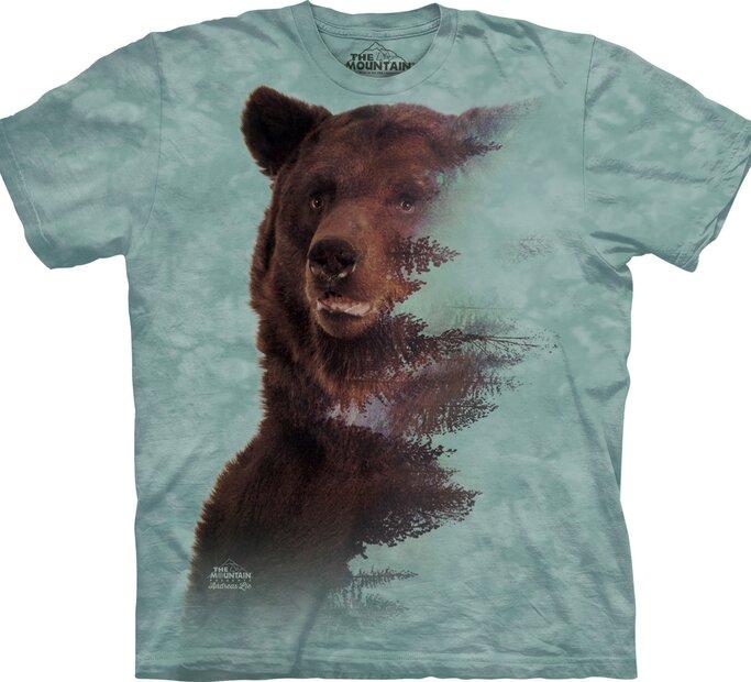 Tričko Hnědý medvěd a les