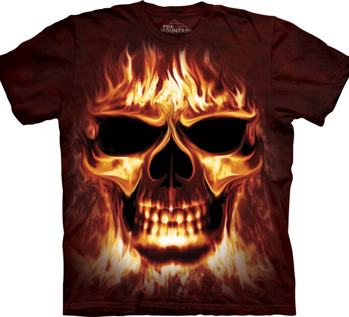 Tričko Hořící lebka
