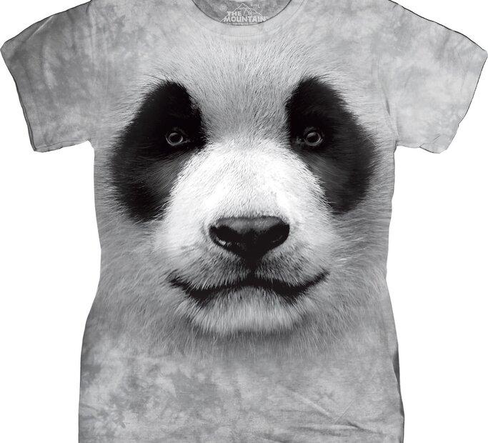 Damen T-Shirt Weißer Panda