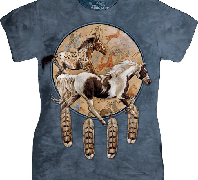 Dámske tričko Divé kone
