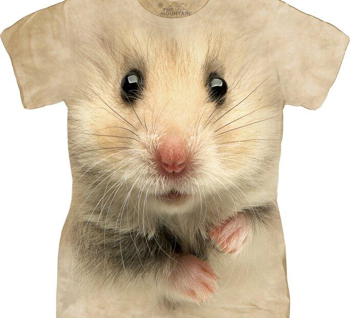 Damen T-Shirt Gesicht Hamster