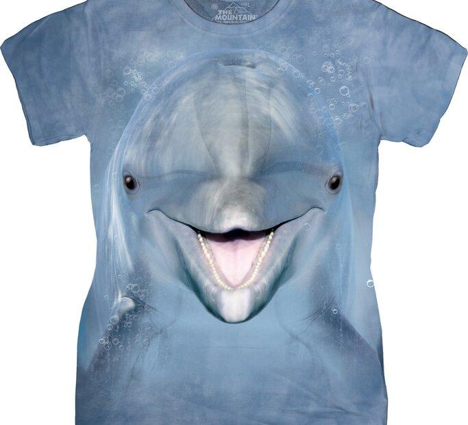 Dámské tričko Obličej delfína