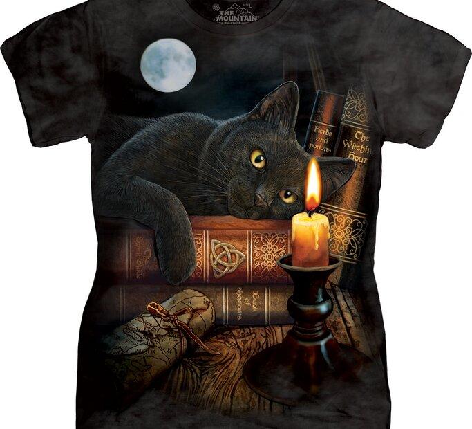 Tricou damă Pisica cu lumănare