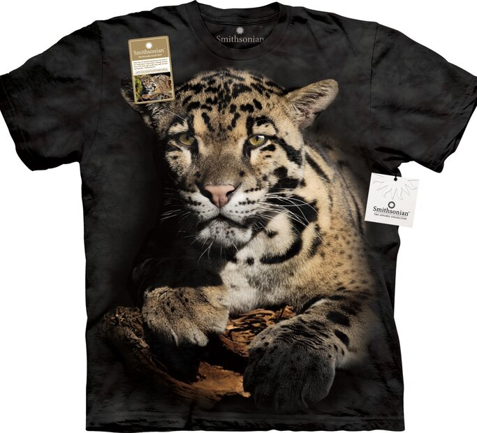 T-Shirt Wolkiger Leopard