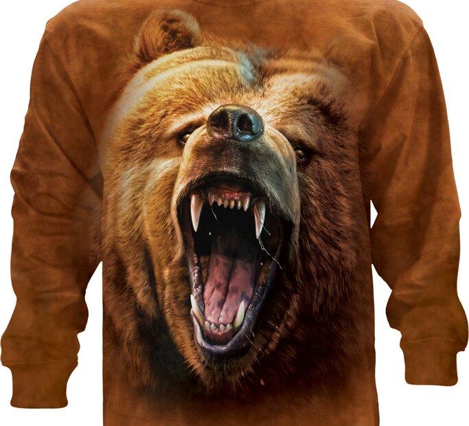Őrjöngő grizzly medve hosszú ujjú