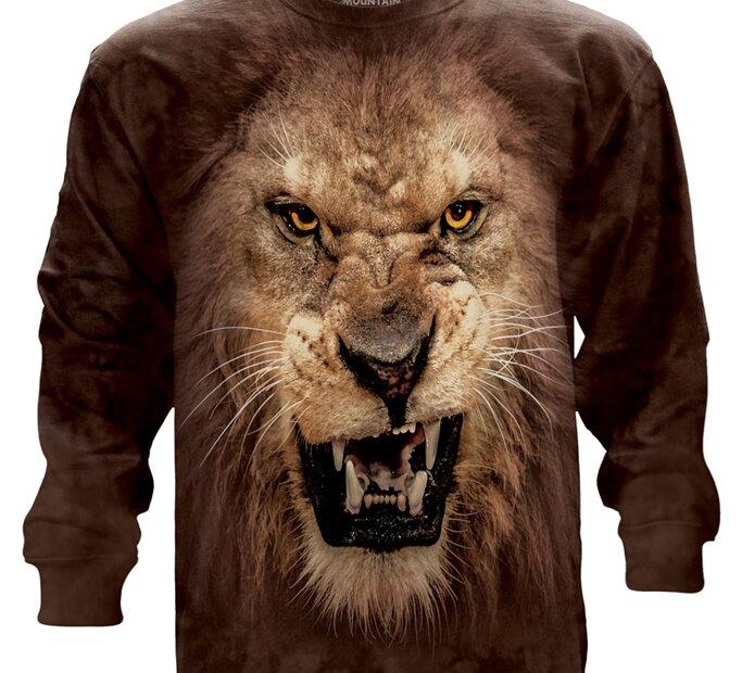 Dlouhý rukáv Zuřivý lev