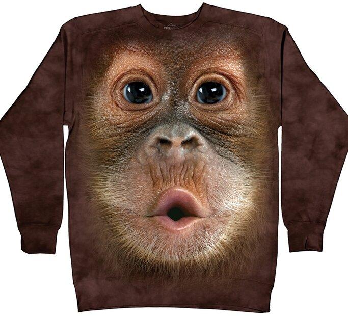 Hanorac fără glugă Big Face Baby Orangutan