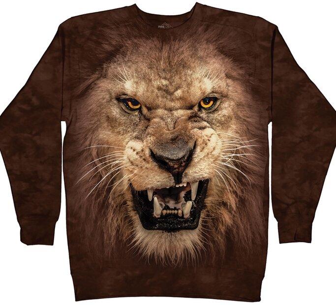 Hanorac fără glugă Leul furios
