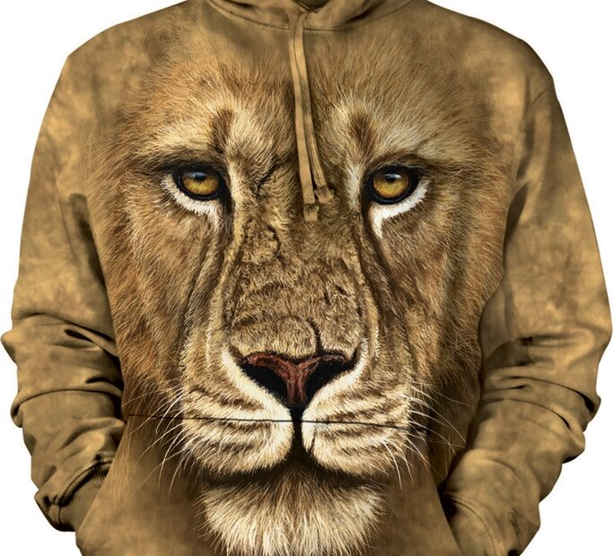 Kapucnis pulóver Oroszlán 3D