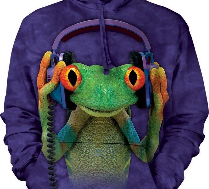 Sweatshirt mit Kapuze DJ Frosch