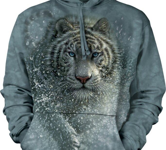 Mikina s kapucí Mokrý tygr