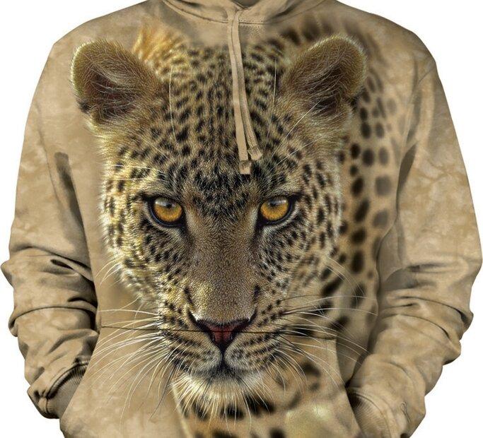 Sweatshirt mit Kapuze 3D Leopard