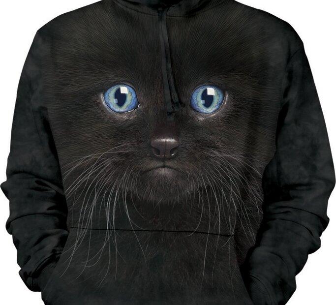 Mikina s kapucí Černá kočka