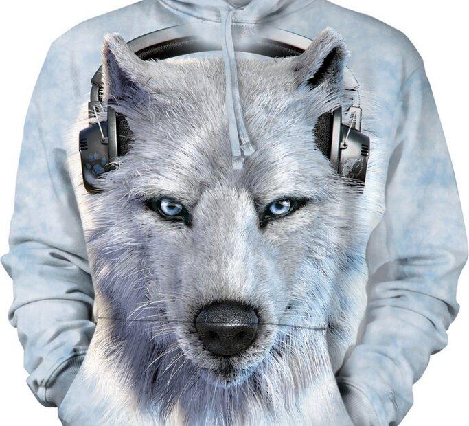 Hanorac cu glugă White Wolf DJ Adult