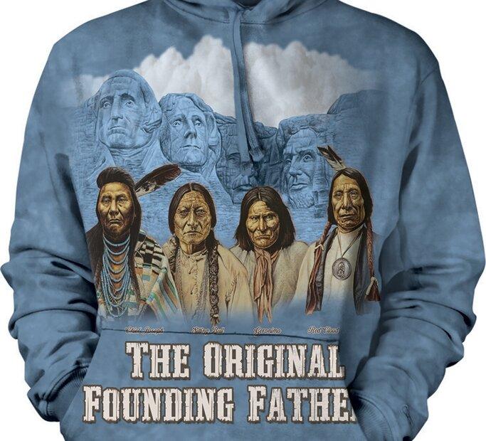 Sweatshirt mit Kapuze Indianer