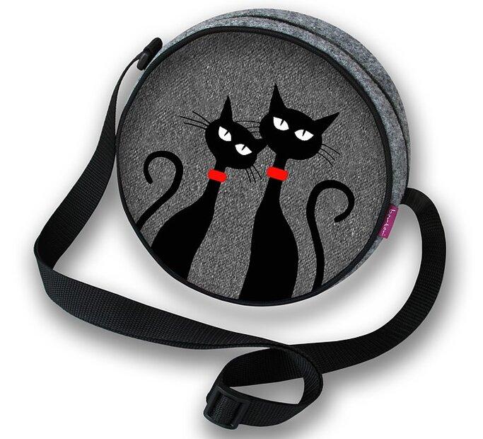 Twist Round Purse - Two Cats