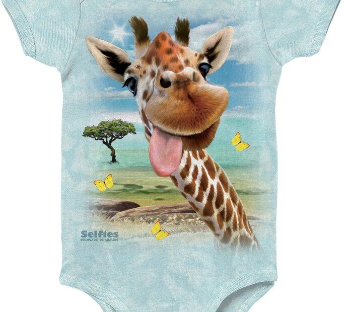 Detské body Selfie žirafa
