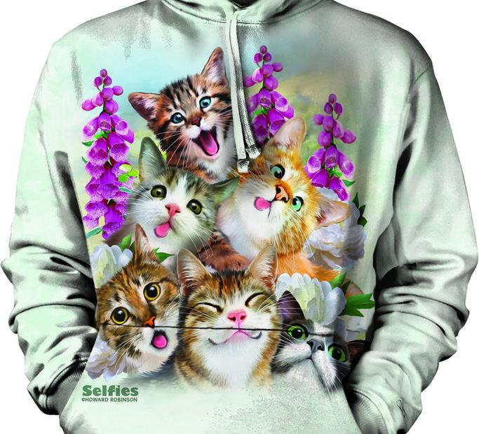 Bluza z kapturem Zwariowane koty
