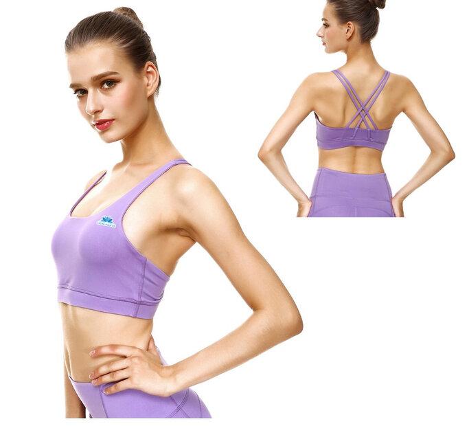 Levanduľovo fialová dámska športová podprsenka