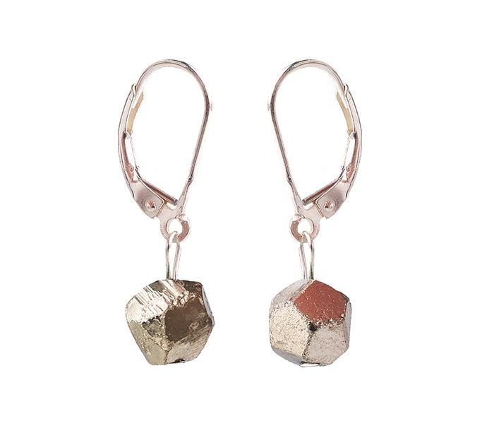 Náušnice Pyrit guličky - kameň energie