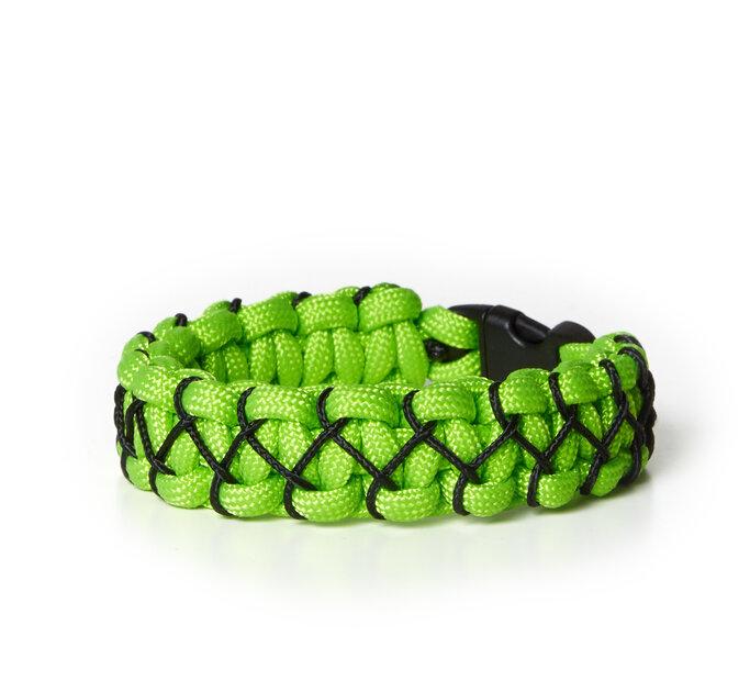 Paramicord survival náramok Kobra X zeleno čierny