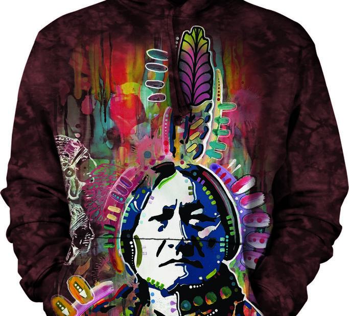 Mikina s kapucňou Kreslený indián