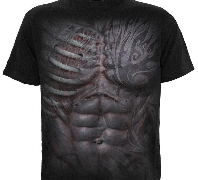 Čierne tričko Mužské telo