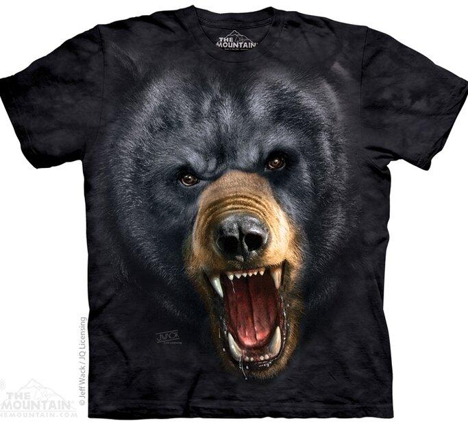 Agresszív fekete medve póló