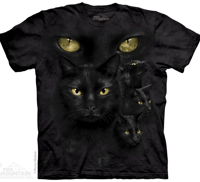 Fekete macska szemei póló