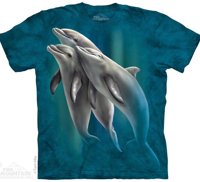 Tričko Tri delfíny