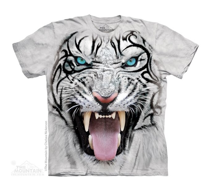 Big Face Tribal White Tiger