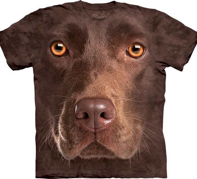 Tričko Tvár hnedého labradora - detské