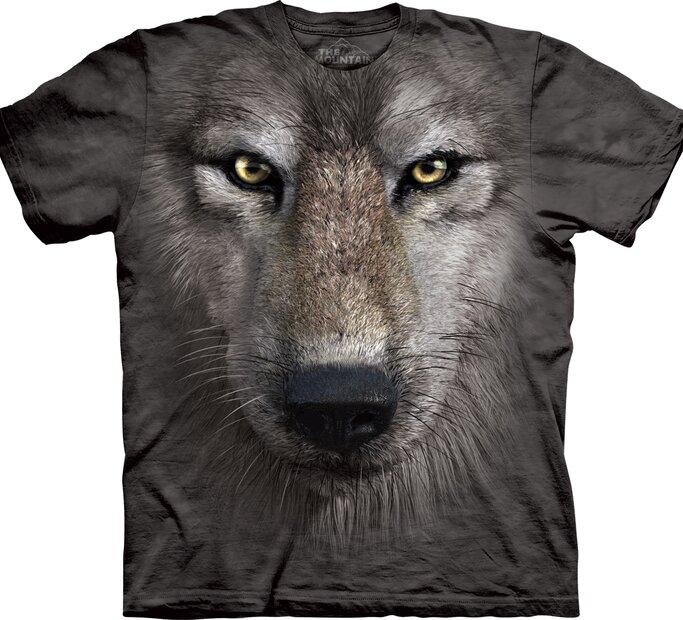 T-Shirt Wolf Gesicht
