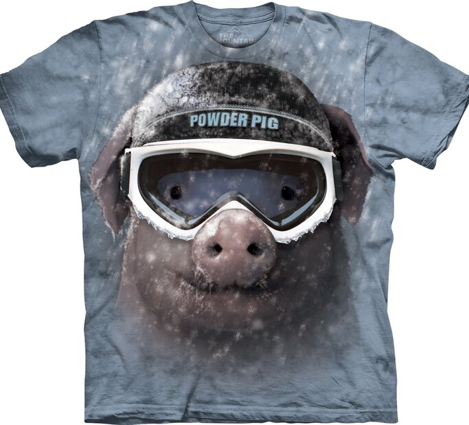 T-Shirt Verschneiter Schwein