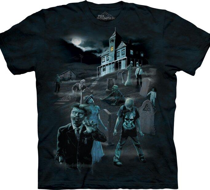 Zombik és szellemek világító póló