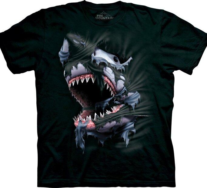 T-Shirt Wütender Haifisch