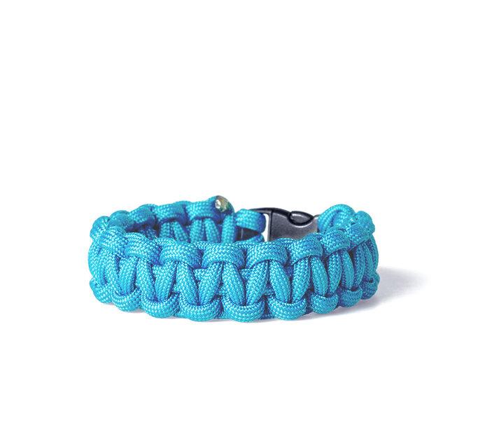 Paracord survival bracelet-blue