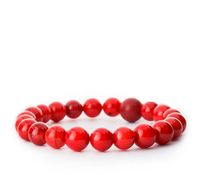 Energetický náramok Červený korál - kameň vášne