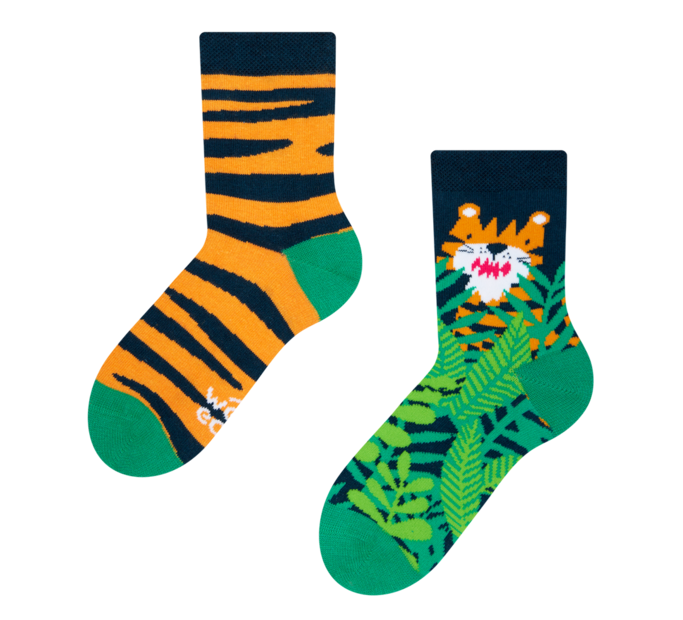 Detské veselé ponožky Tiger