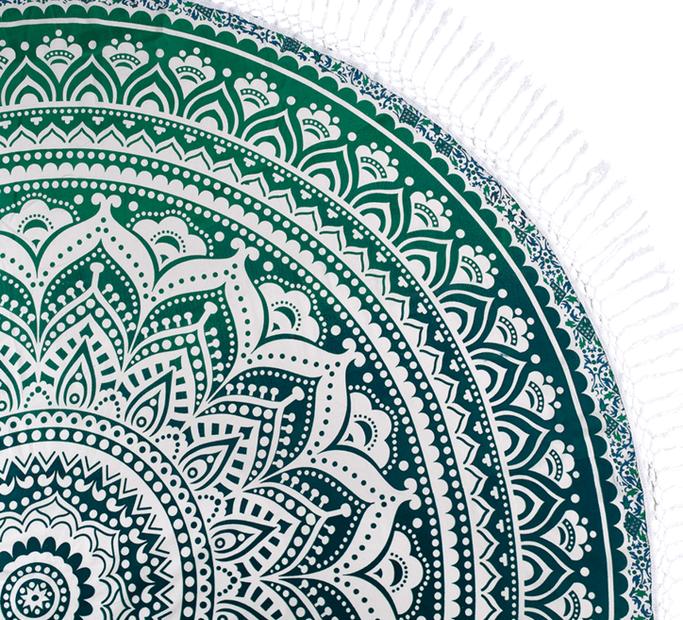 Mandala din bumbac Verde marin