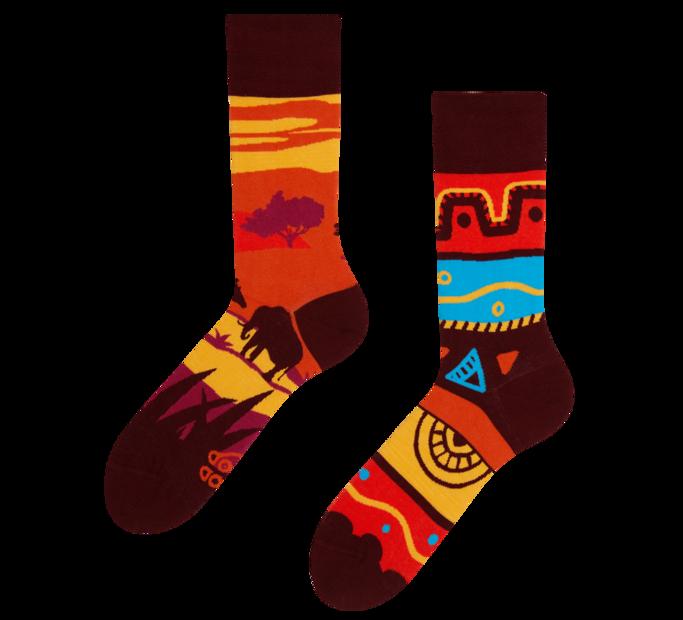 Lustige Socken Afrika