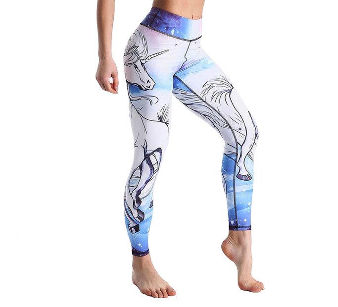 Damen Sport Leggings Elastisch Mystical Unicorn