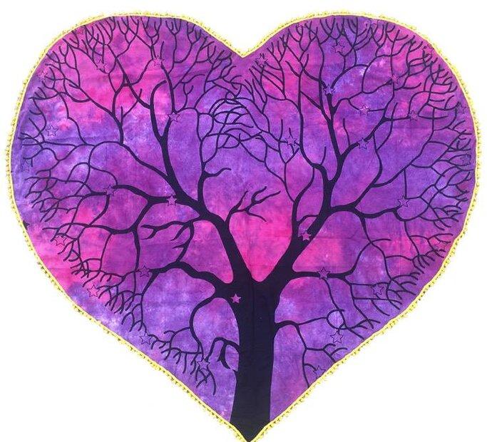 Srdíčková deka Strom života