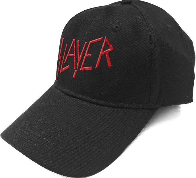 Čierna šiltovka Slayer Logo Červené