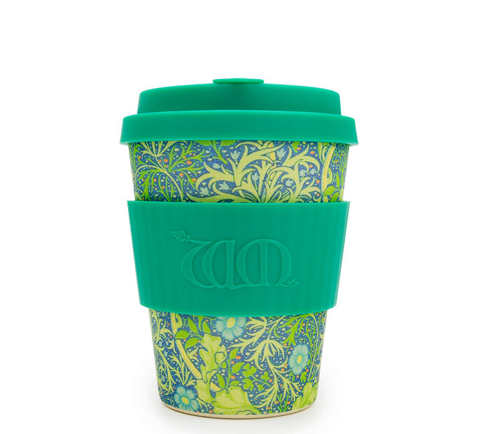 Bambusový ecoffee cup Seaweed green William Morris