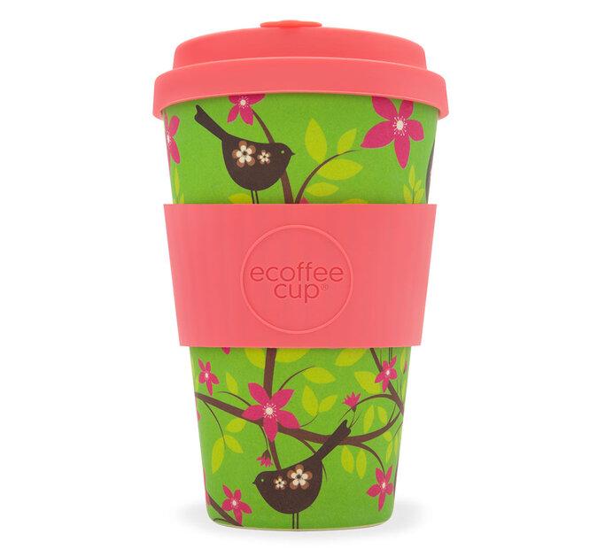 Bambusový ecoffee cup Vtáčik